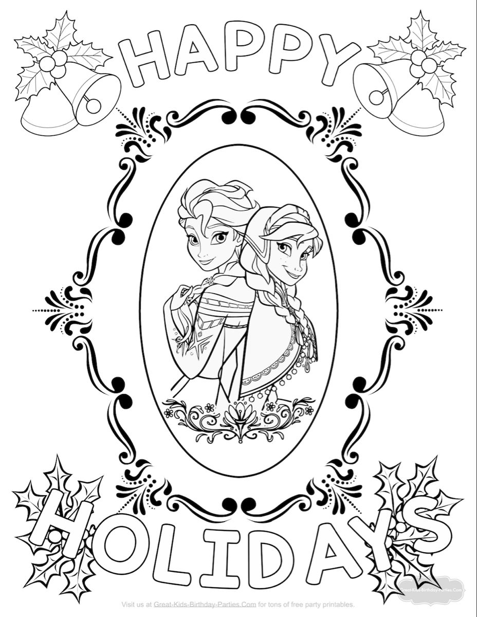Free Frozen Christmas Coloring Page In 2020 Printable Christmas Coloring Pages Frozen Coloring Pages Christmas Coloring Pages