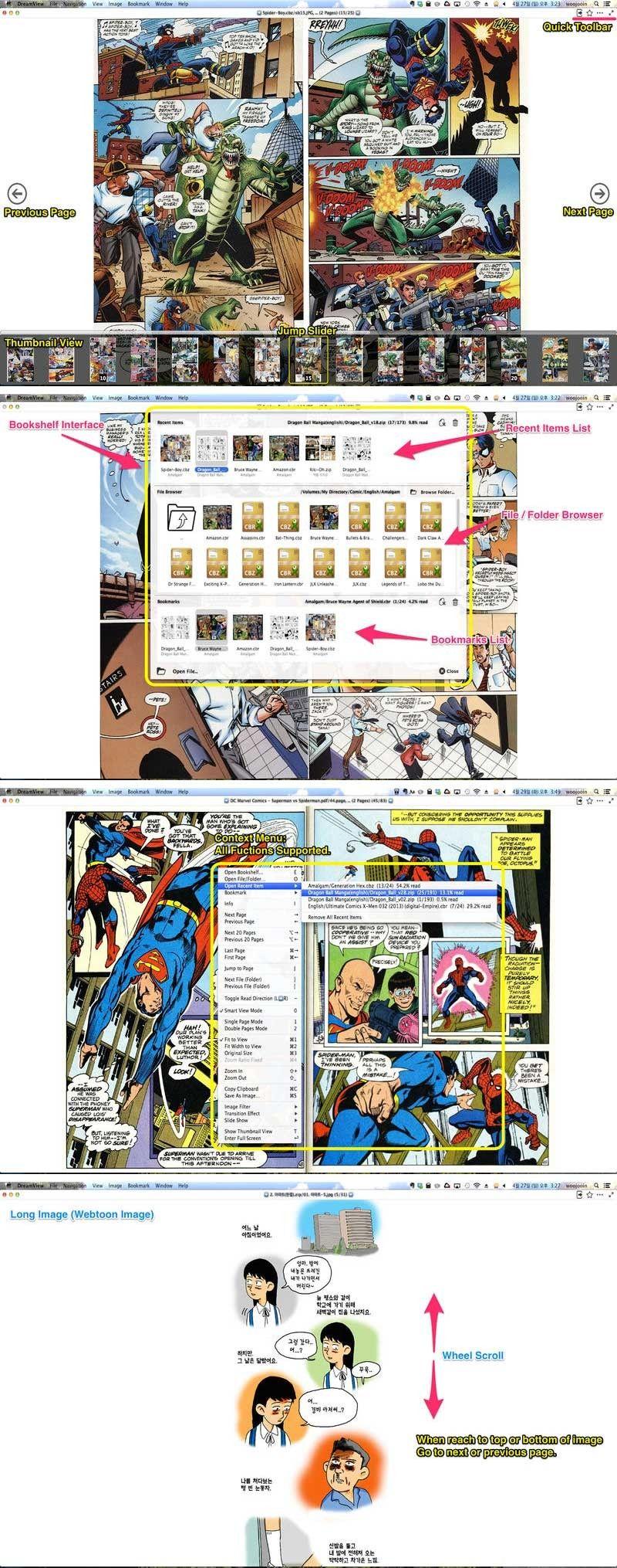 DreamView 1.7 for Mac 破解版 漫画和卡通阅读器 Application