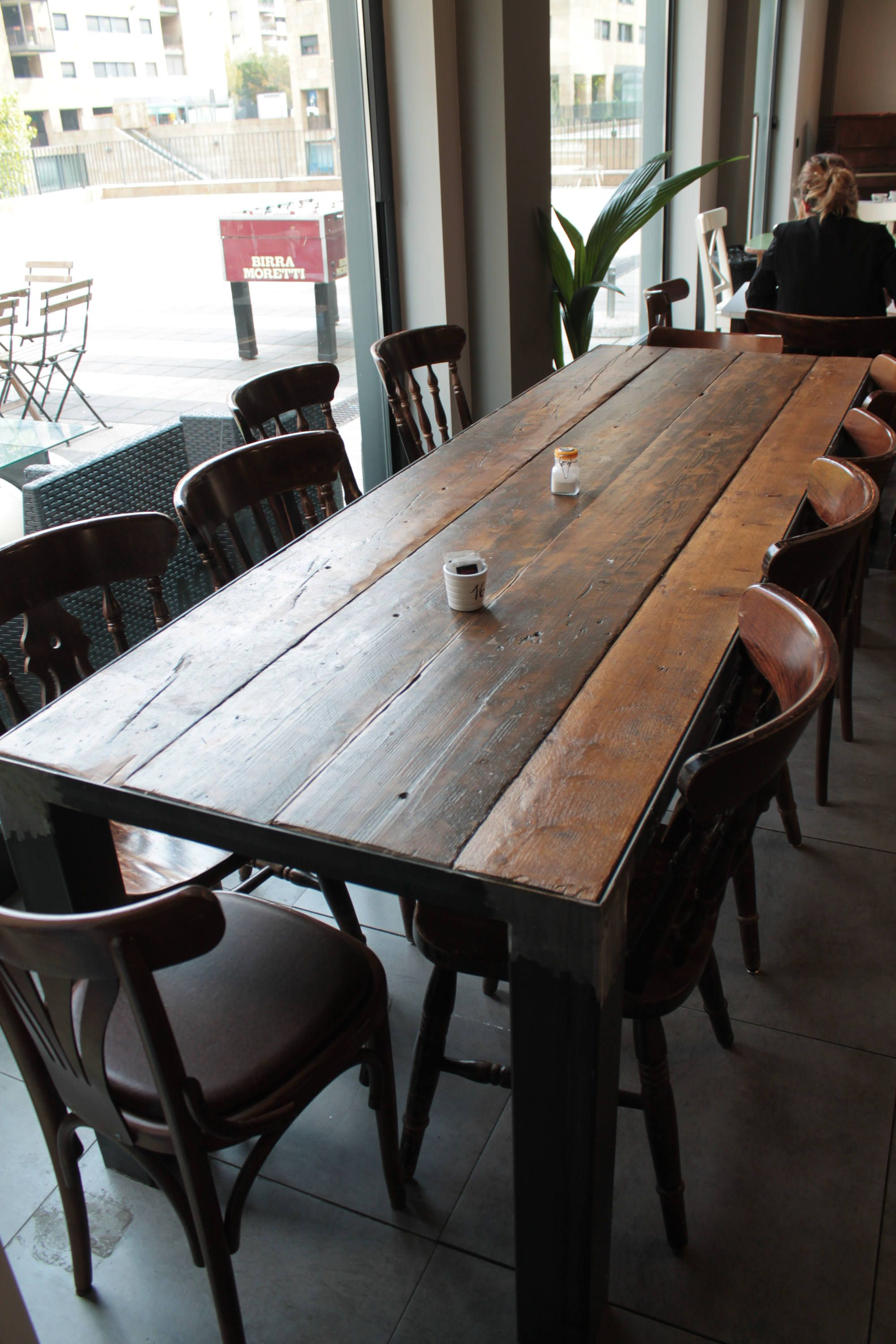 Wood Dining Table Industrial Rustic Vintage Dining Table Wood