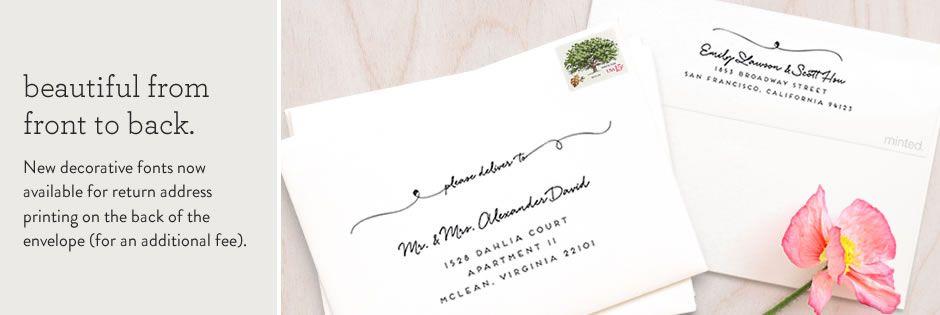 wedding envelopes wedding addressing minted wedding stationery