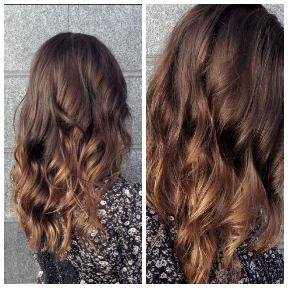 brunette subtle ombre hair envy
