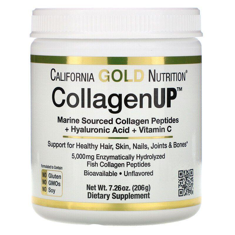 California Gold Nutrition Collagenup كولاجين بحري متحلل حمض الهيالورونيك فيتامين جـ خال من النكهات 7 26 أونصة 206 جم Collagen Supplements Benefits Collagen Collagen Benefits