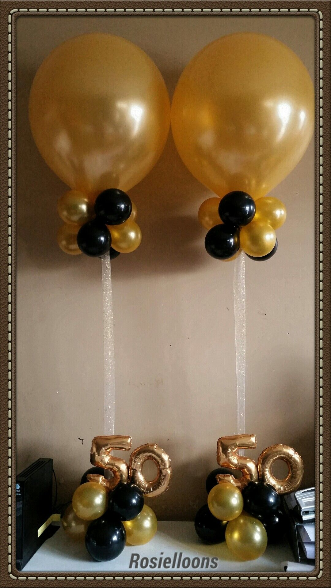 Pin by Rosielloons on Balloon centerpieces in 2020 | 50th ...