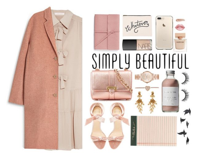 """""""simply beautiful"""" by jafashions ❤ liked on Polyvore featuring See by Chloé, Acne Studios, Alexandre Birman, Aspinal of London, Michael Kors, Oscar de la Renta, Lime Crime, Narciso Rodriguez, NARS Cosmetics and Bynd Artisan"""