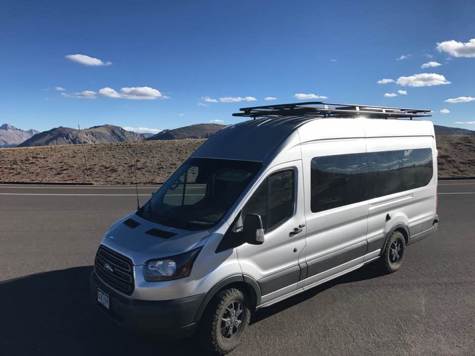 ford transit with aluminess roof rack photo cred mike. Black Bedroom Furniture Sets. Home Design Ideas