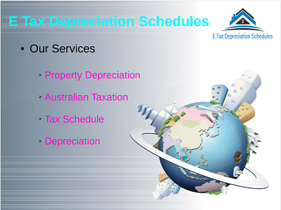 E Tax Depreciation Schedules is one of the standard versatile relationship in giving Tax Depreciation orchestrate all through Australia. We have qualified assembling of Quantity surveyors who are hugely capability Australian property charge subtraction rules. Our social affair has could supply the typical for explorer property in profiting their property assessment guarantees the amass single one again the Nation.