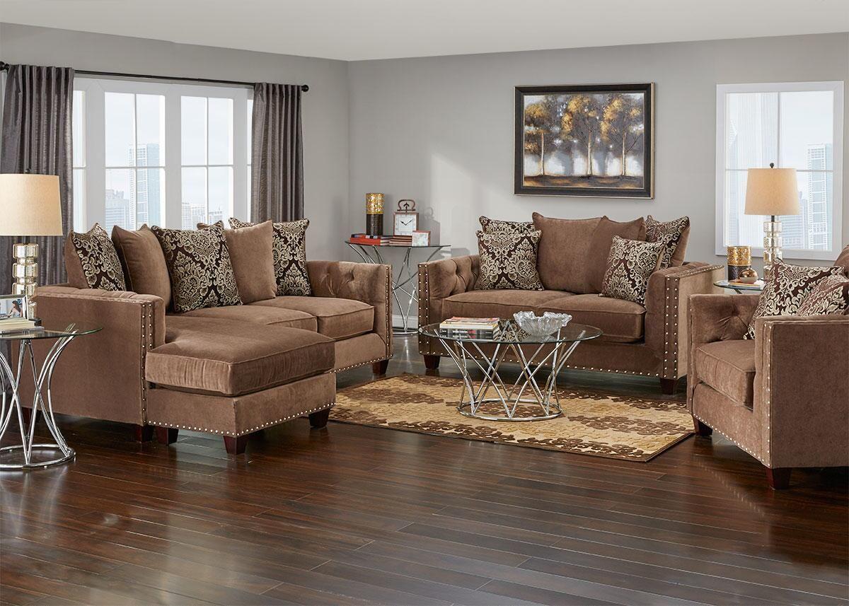 Fine Newcastle Mocha 3 Pc Living Room W Sofa Chaise Furniture Dailytribune Chair Design For Home Dailytribuneorg