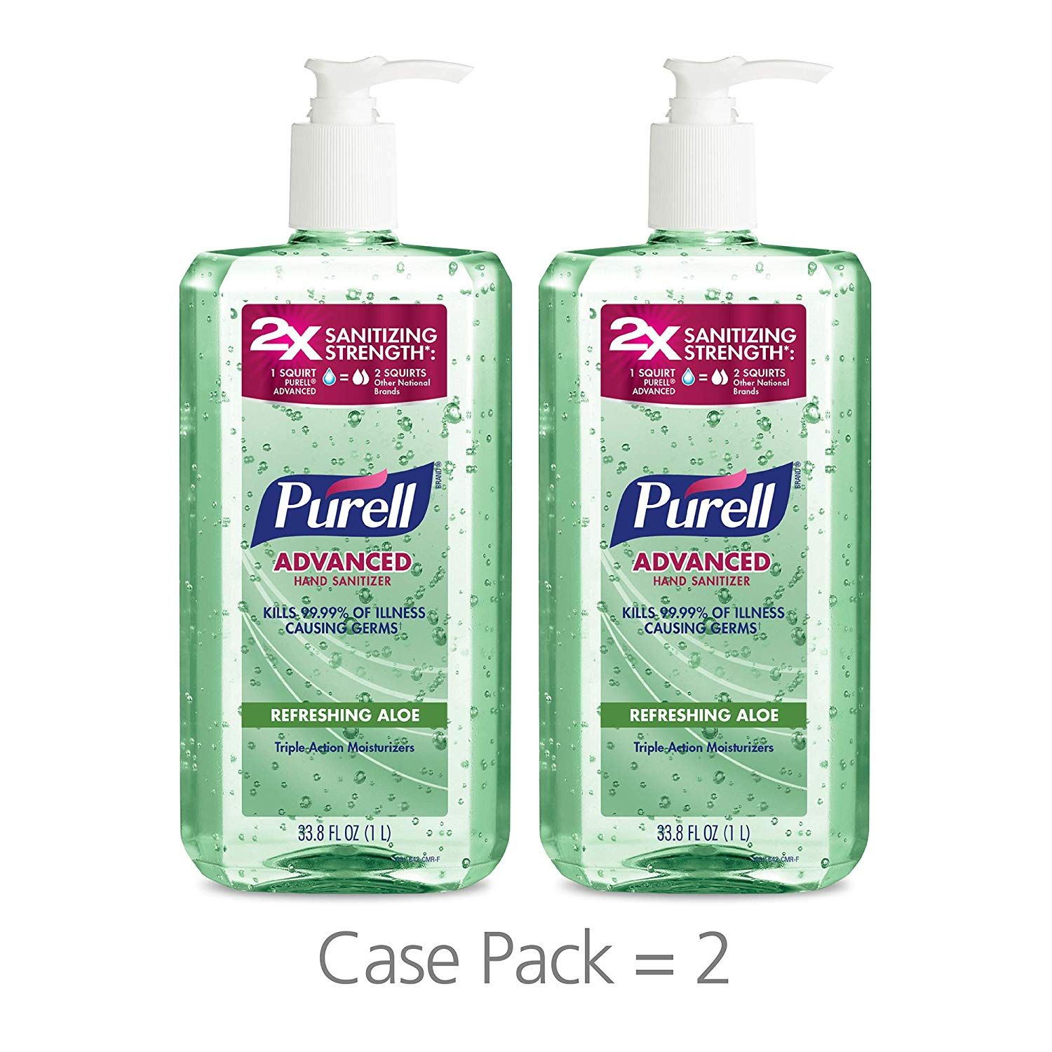 Germ X Advanced Hand Sanitizer Original Scent 1 L Hand