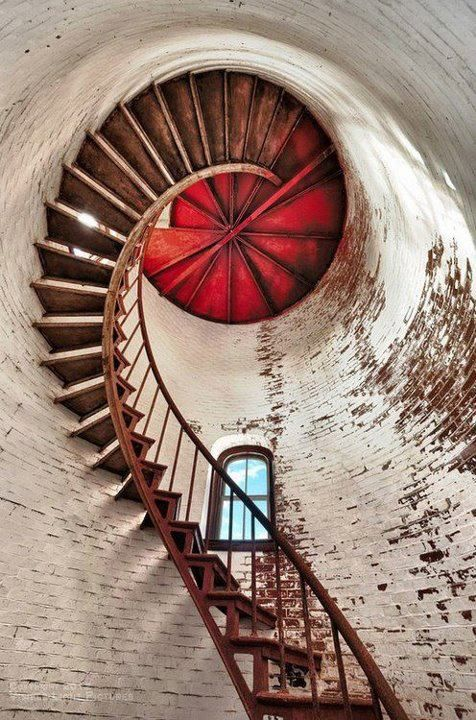 Lighthouse spiral staircase.