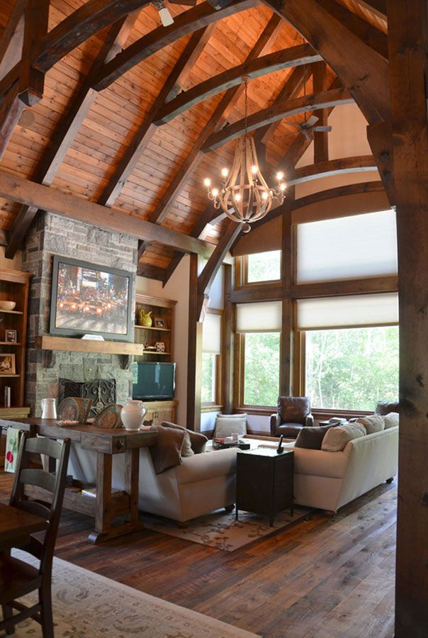 Timber Frame Interior Design Normerica Authentic Timber