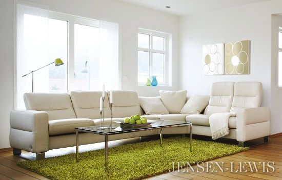 The Wave Stressless Sectional Sofa At Jensen Lewis Furniture