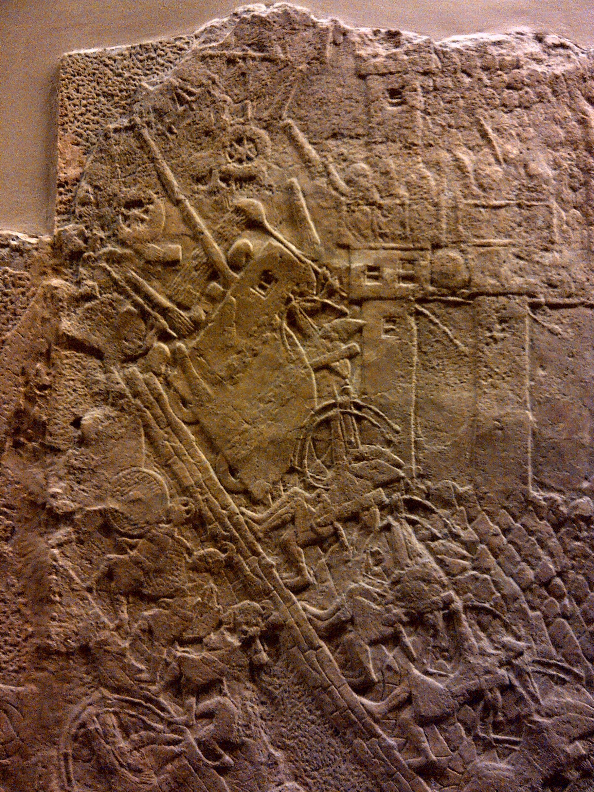 Battering machine, Lachish. Assyrian Palace. British Museum