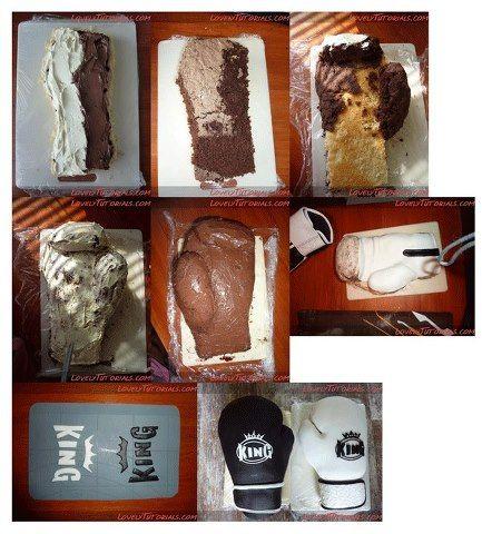 Boxing Gloves Cake Tutorial Boyish Amp Manley Amp Groom S