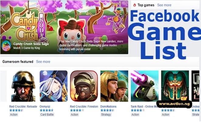 Get Facebook Game List Play The Best Games On Facebook Best