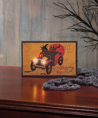 Look what I found on #zulily! Vintage Car Halloween Lighted Canvas - halloween decorated cars