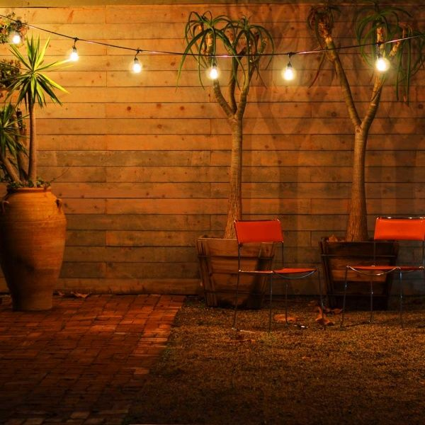 Outdoor Hanging Italian String Lights For Patio, Backyard, Gazebo