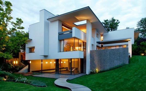 Pin de viridiana ortega en arquitectura fachadas dise o for Diseno exterior casa contemporanea