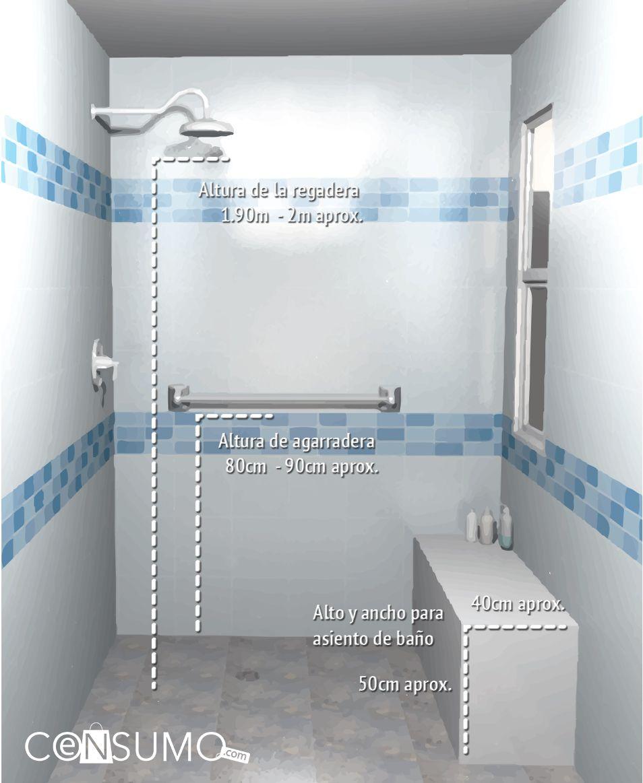 Ba o regadera toallero agarramanos agarradera for Agarradera para ducha