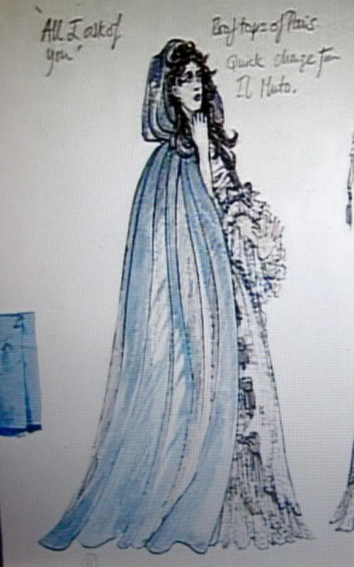 "Costume Sketch for Christine in ""All I Ask of You"""