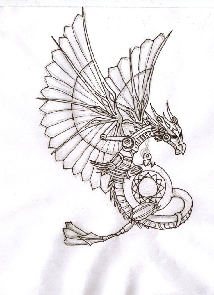Steampunk pattern coloring page - Google Search Dragon Steampunk - copy pinterest fish coloring pages