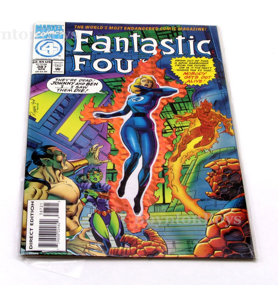 FANTASTIC FOUR ORIGINAL SERIES #387 DIE-CUT FOIL COVER MARVEL Uncertified