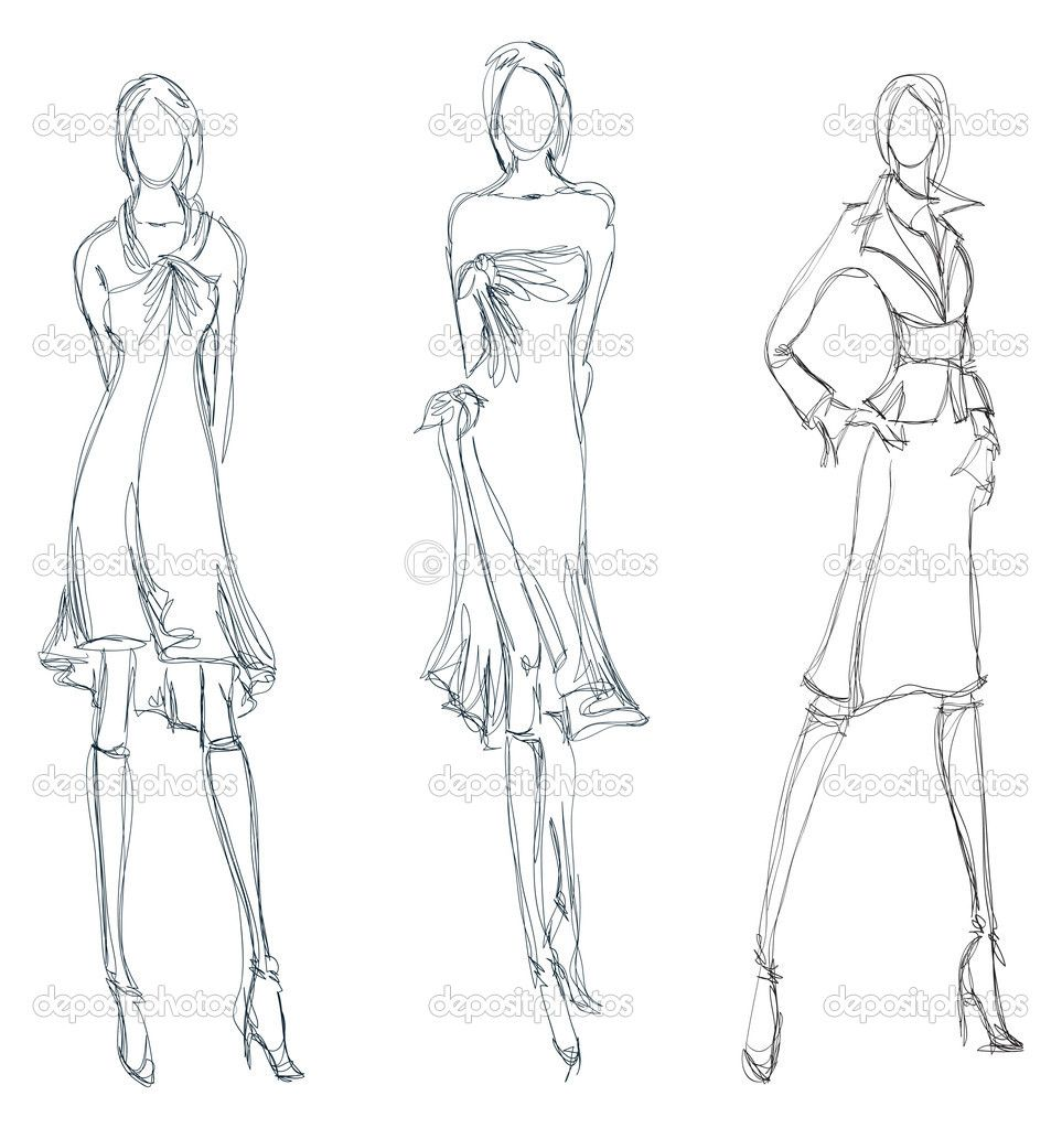 Sketch Fashion Girl Hand Drawn Fashion Model Model Sketch Fashion Model Sketch Fashion Model Drawing