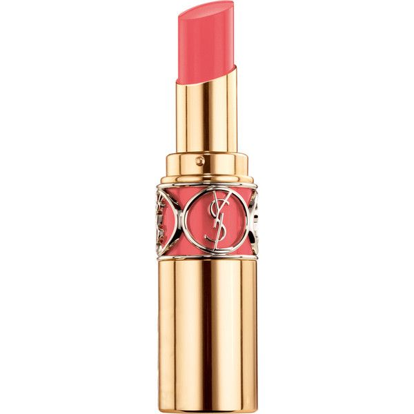 Yves Saint Laurent Beauty Women's Rouge Volupté Shine (49 CAD) ❤ liked on Polyvore featuring beauty products, makeup, lip makeup, lipstick, pink, lip gloss makeup, yves saint laurent, gloss lipstick, glossy lipstick and moisturizing lipstick