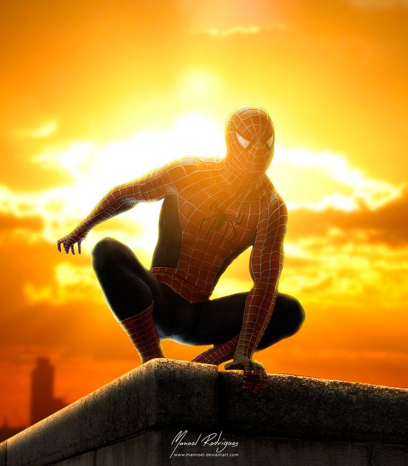 #Spiderman #Fan #Art. (Watching the city) By: Mannoel. (THE * 5 * STÅR * ÅWARD * OF: * AW YEAH, IT'S MAJOR ÅWESOMENESS!!!™)[THANK Ü 4 PINNING!!!<·><]<©>ÅÅÅ+(OB4E)