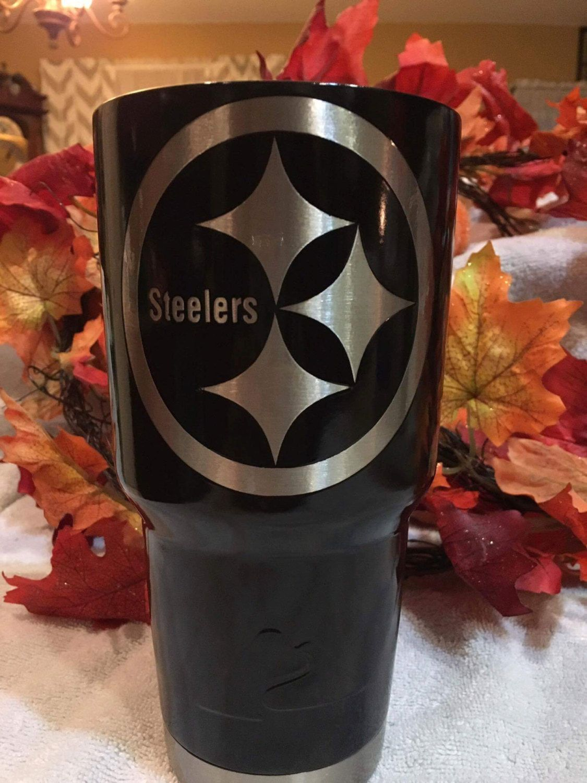 Custom Powder Coated Cups Tumblers Steelers By