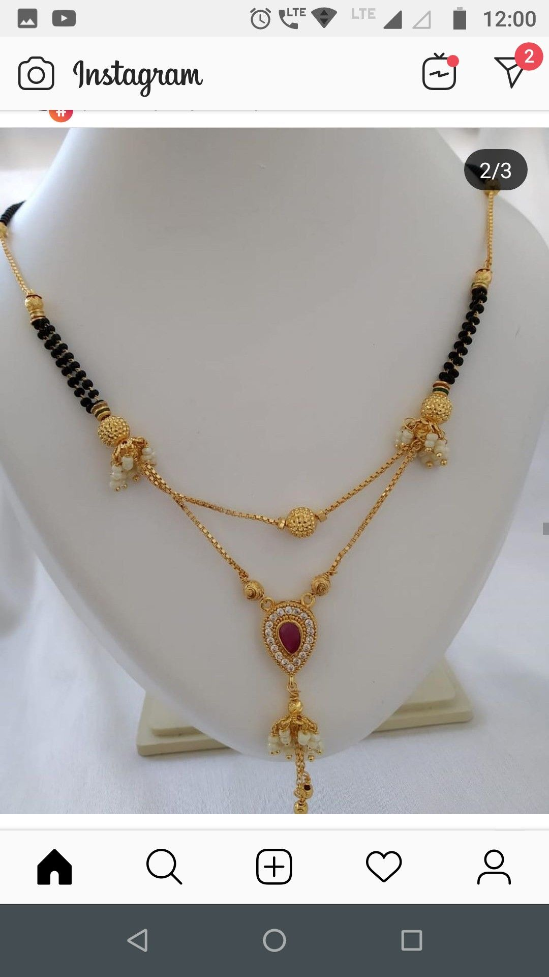 Pin by kruti rahabar on mangalsutra 2 gold necklace