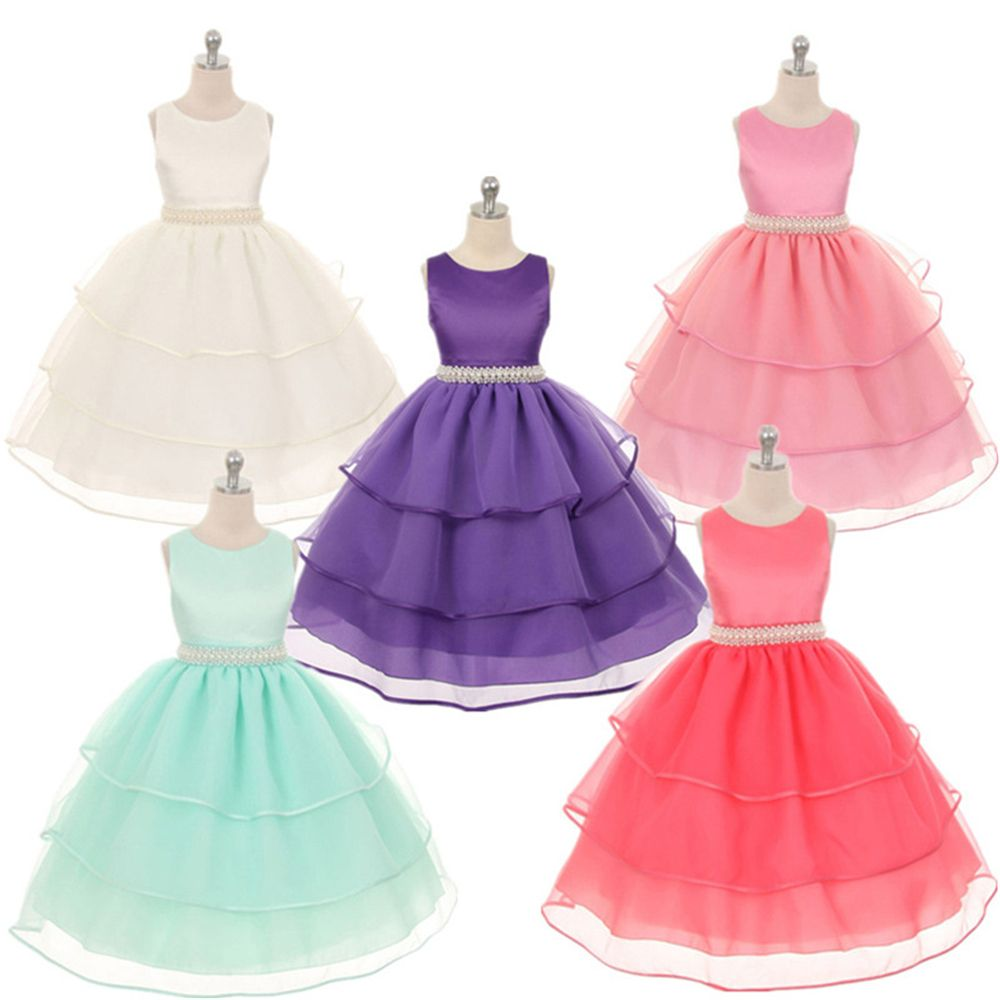 4 - 14 Years High Quality Formal Girl Dress Children Clothes Teenger ...