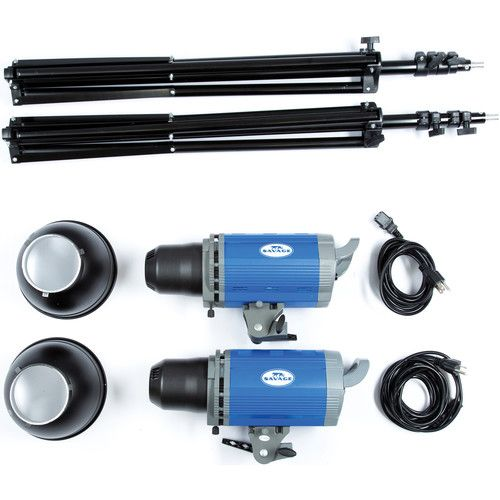 Make the difference in your shots! 2000 Watt Location Light Kit from Savage.
