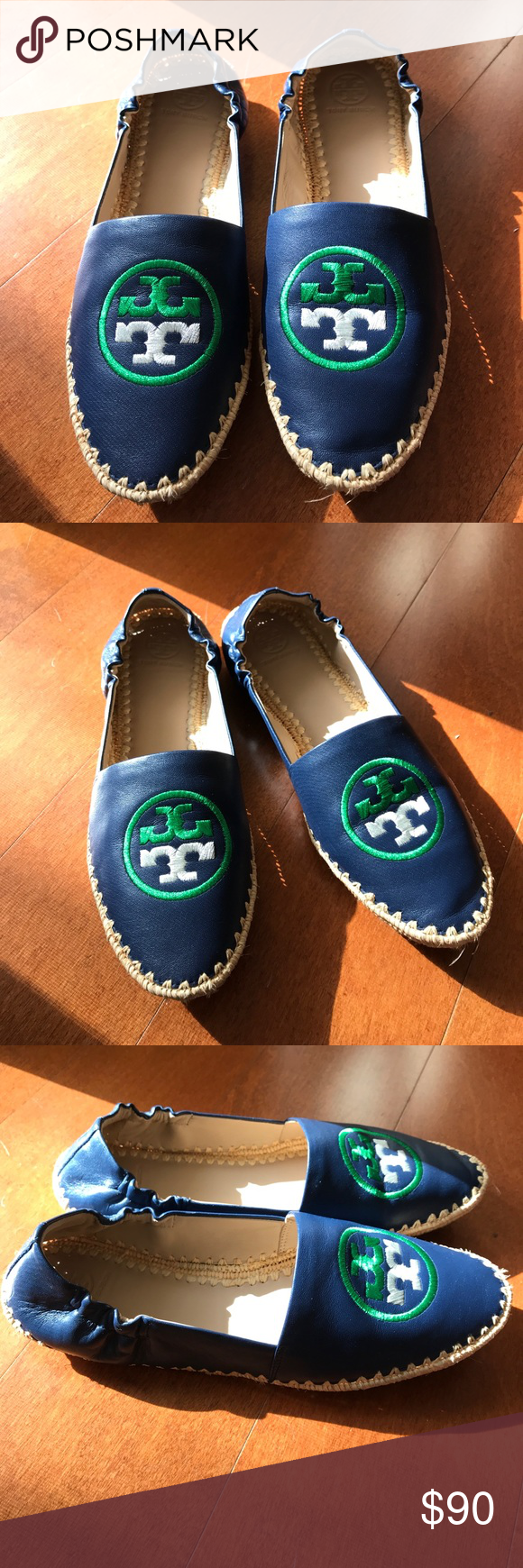 6e0442db791 Tory Burch Darien loafer Tory Burch Darien loafer- navy blue. Excellent  condition. Worn once Tory Burch Shoes Flats   Loafers
