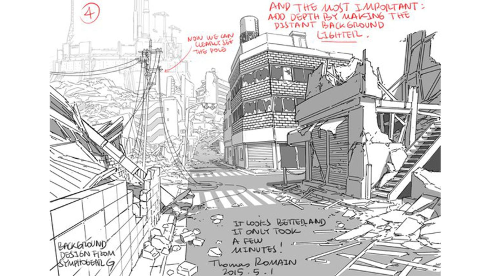 Tips For Drawing Backgrounds Background Drawing Thomas Romain Drawings