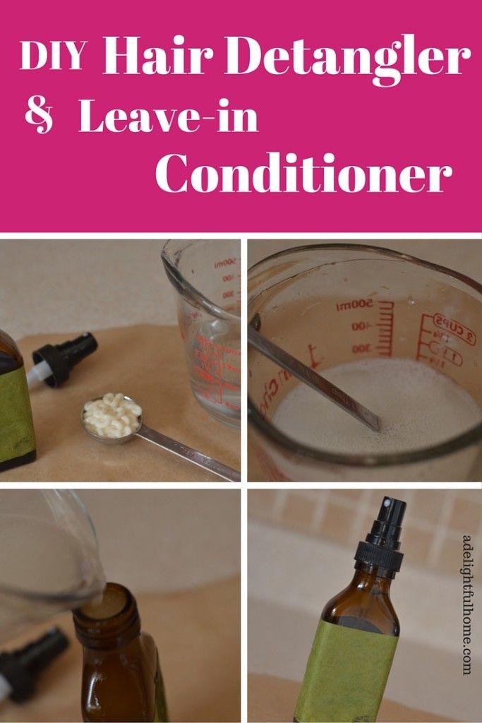 Homemade Detangler or Leave-in Conditioner | Diy hair ...