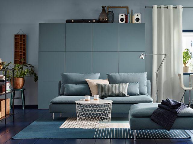 40 id es d co pour le salon livingroom salon turquoise canap modulable ikea et mobilier de - Canape modulable ikea ...