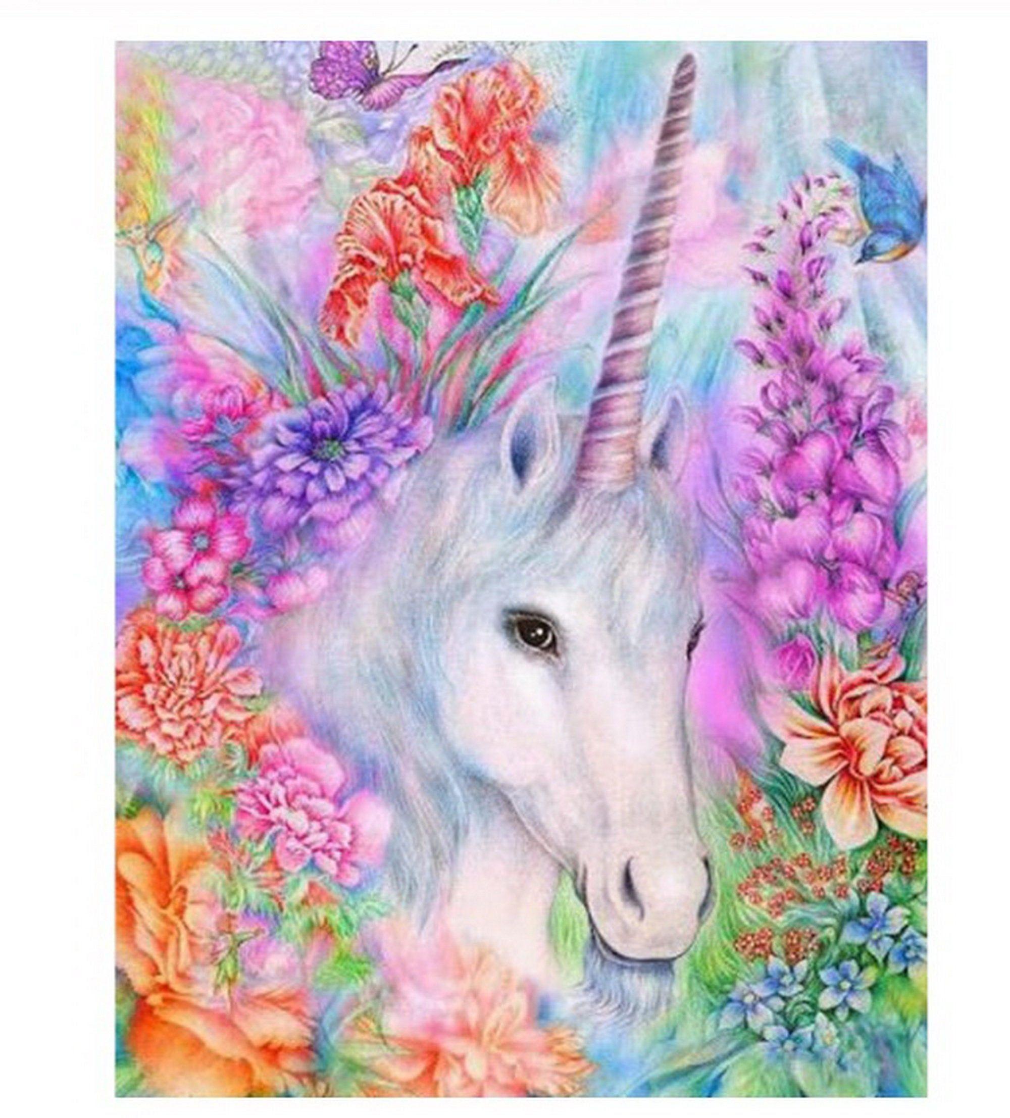 Unicorn Paint Number kit, Home Decoration, Color by Number kit, Modern Paint by Number, DIY Painting On Canvas, DIY Painting Kit