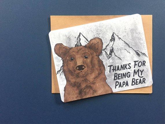 Papa Bear Card Birthday Card Got It From My Dad Daddy Etsy Bear Card Cute Birthday Cards Daddy Birthday Card