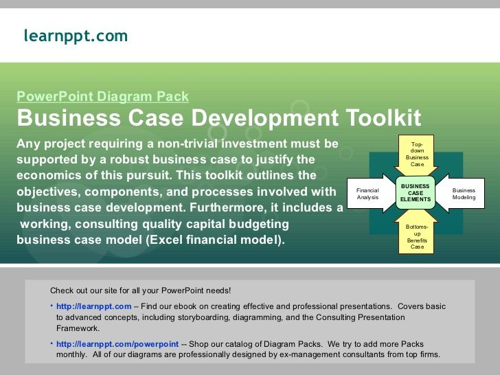 Powerpoint Diagram Pack Business Case Development Toolkit Any