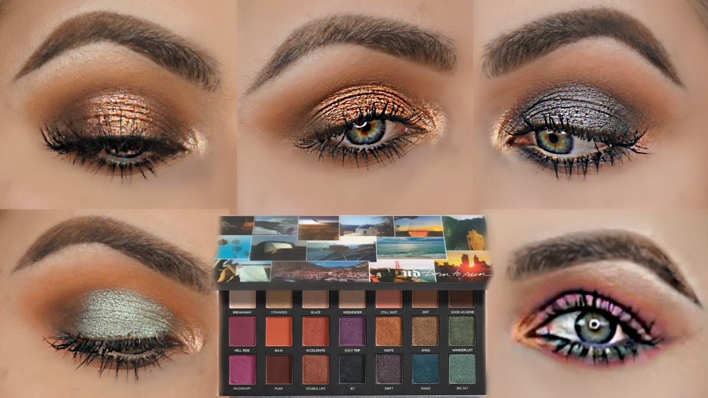5 Looks With The Born To Run Palette By Urban Decay Urban Decay