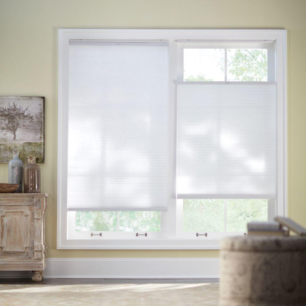 Home Decorators Collection Snow Drift White Top Down Bottom Up Light Filtering Cellular Shade 23 In W X 48 In L 10793478634200 The Home Depot Cordless Cellular Shades Cellular Shades Home Decorators Collection