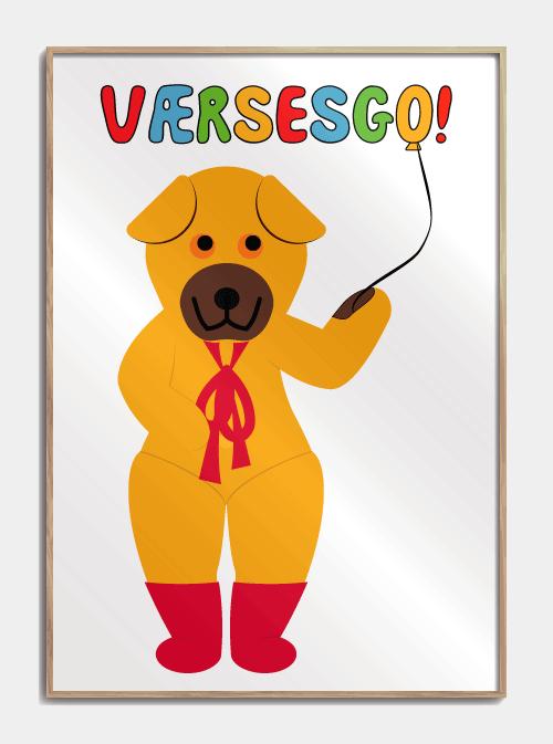 Bamse Og Kylling Plakat Med Bamse S Vaersesgo Fra Bamses Billedbog Plakater Born Billedbog