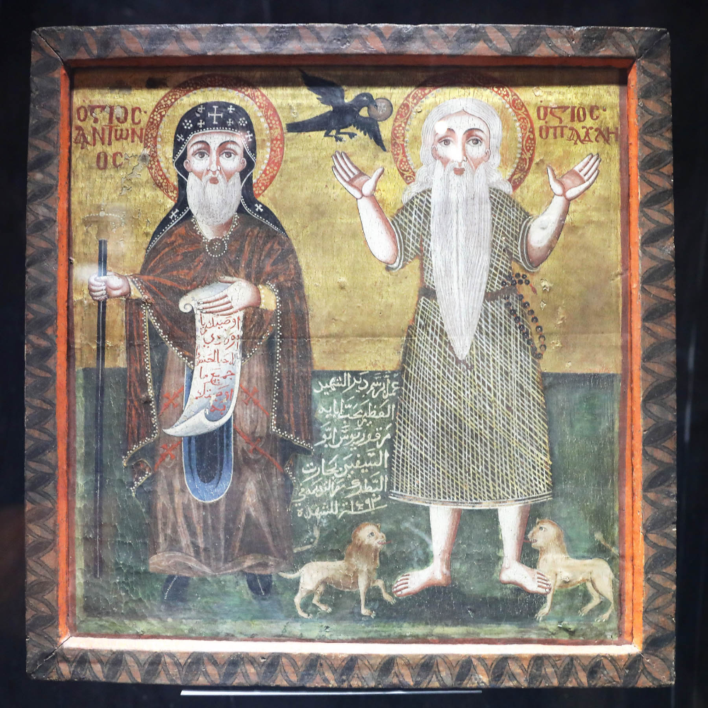 Icon Of Saint Antony And Saint Paul Discover Egypt S Monuments Ministry Of Tourism And Antiquities Saint Antony Saint Paul Antony