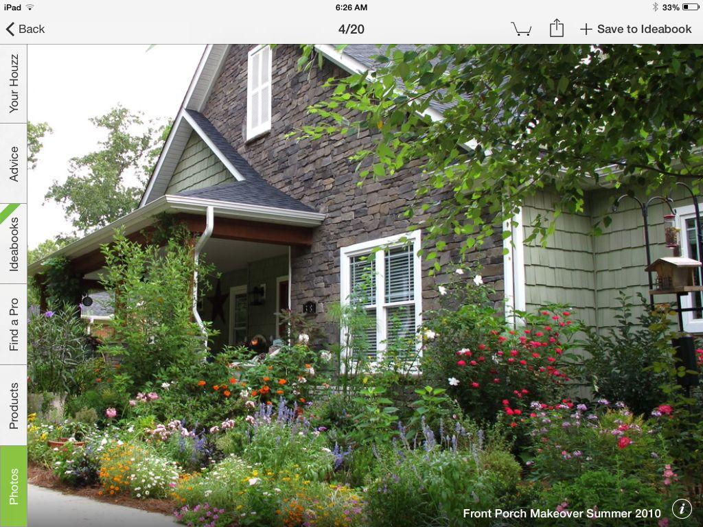 Front yard cottage gardens - Perennial Cottage Garden