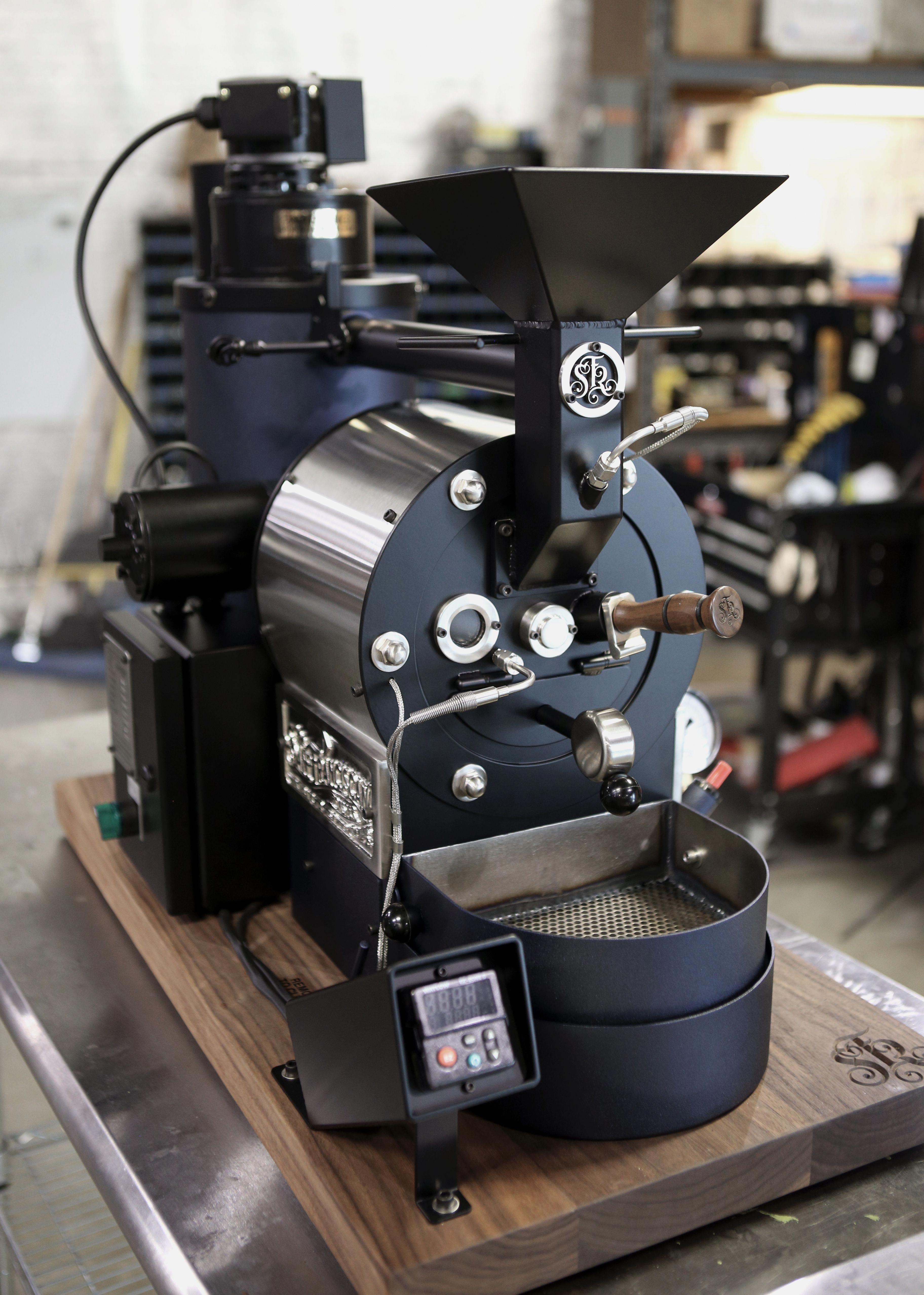 Black & nickel San Franciscan SF1 coffee roaster.