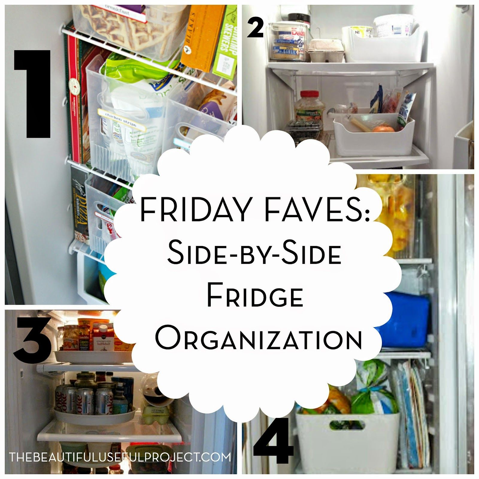 Friday Faves SideBySide Fridge Organization is part of Side By Side Fridge Organization - Hello, fellow sidebyside fridge owner (or renter, in my case)  Trying to organize a sidebyside fridge is a hassle  It seems that all we can do is just stuff food in the fridge, and hope that it doesn't fall out because it's getting too full  I've been longing for a regular topbottom fridge for a …