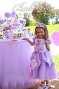 vestidos da princesa sofia com coroa e sapatos