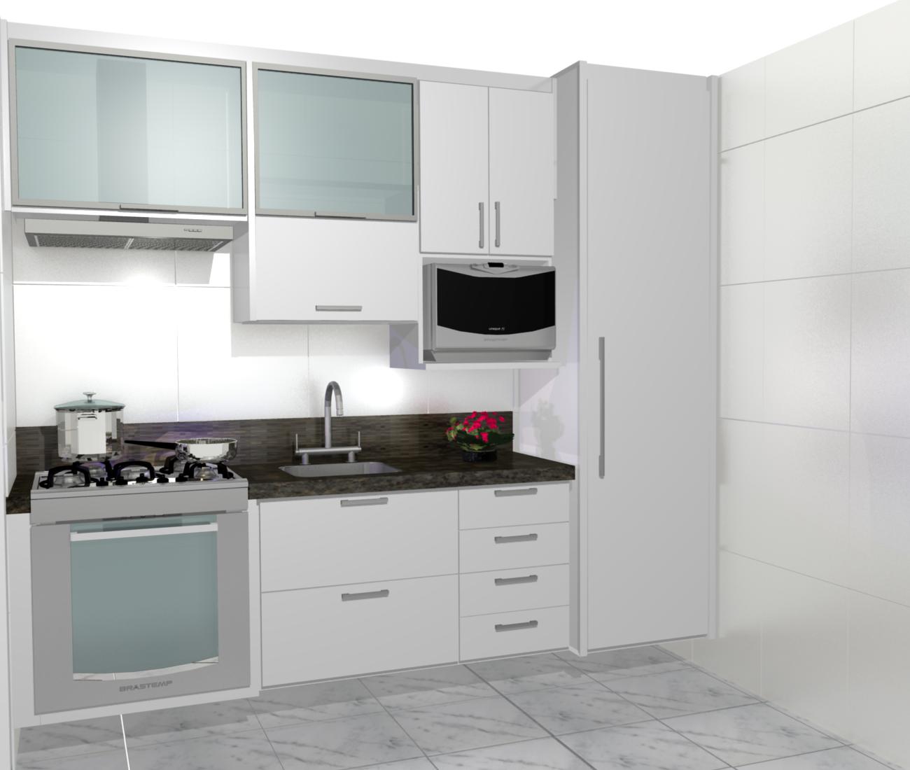 Cozinhas Planejadas Cozinhas Pequenas Planejadas Tudo Para A Lu  ~ Armarios De Cozinha Pequeno