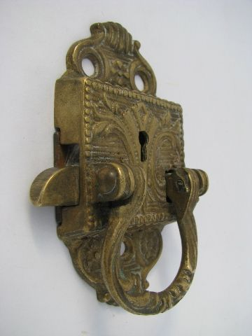 Amazing 1880s Vintage Brass Door Lock W/ Ornate Embossed Design, Antique Hardware |  A Few Of My Favorite Things | Pinterest | Antique Hardware, Hardware And  Doors