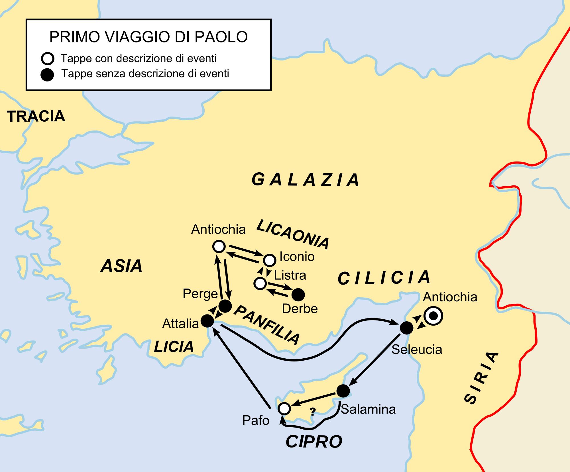 mappa delle regioni Galazia Frigia viaggi di Paolo - Cerca con Google